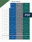 Sed 2015 Schedule
