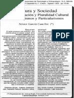 García Canclini_Homogeneización y pluralidad cultural