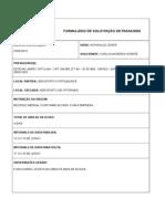 Formulário de Solicitação de Passagem