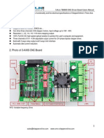 3 Axis TB6600 CNC Driver Board Users Manual