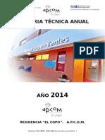 Memoria Tecnica Residencia 2014 El Copo - Imas