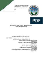 Espectrofotometria Reporte