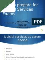 How to Prepare  for Judicial services exams