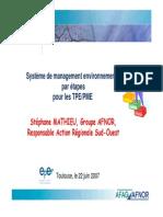 10 - Conf EpE CRCI Environnement Par Etapes