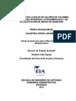Analisis Precio Bolsa