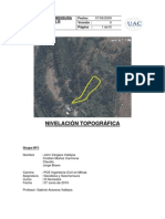 Informe Nivelación Topográfica