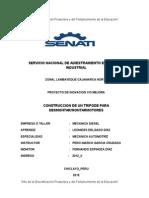 CONSTRUCCION DE UN TRIPODE PARA DESMONTAR/MONTARMOTORES