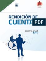 RENCICIÓN DE CUENTAS UPS 2014