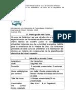 Introducción a La Formación de Formadores, Plan de Curso (1)