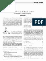 Sulfuric acid from sulfur trioxide