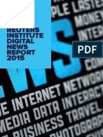 Reuters Institute Digital News Report 2015