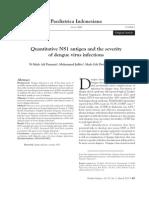 Antigen Kuantitatif NS1 Dan Keparahan Infeksi Virus Dengue