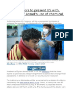 Syrian Doctors to Present US With Evidence of Assad's Use of Chemical Weapons