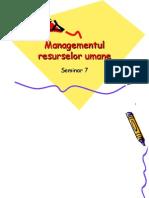 MRU 7-Plan Cariera