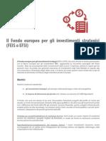 Il fondo europeo per gli investimenti strategici