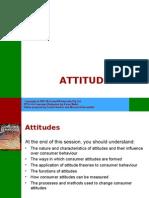 Lecture  PPT on Consumer Behaviour - Attitudes