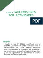 Lmps Para Emisiones Por Actividades