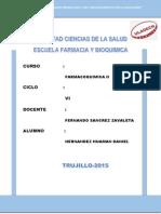 Cuestionario de Farmacoquimica II