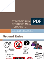 Strategic Human Resources Management - An Overview & Chapter1