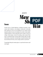 Poems by Maw Shein Win