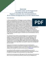 ÉBAUCHE Apport de la société civile au développement de la stratégie du Fonds mondial