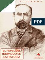 Plejanov, El Papel Del Individuo en La Historia VERSIÓN FINAL
