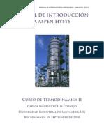 Manual de Introducción a Aspen Hysys