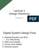 Ces 522 Lecture 1 Hierarchical Design