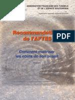 AFTES GT25R2F1 Maitrise Couts Projet