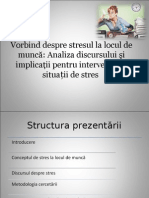 Discourse Analysis and Implications for Stress Interventions