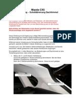 Anleitung Dämmung Dachhimmel CX 5