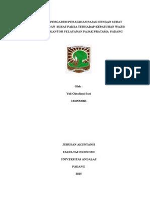 Judul Skripsi Akuntansi Perpajakan 2 Variabel Kumpulan Berbagai Skripsi