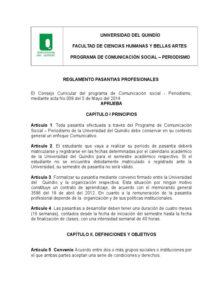 Atractivo Pasantía De Periodismo Currículum Objetivo Colección ...