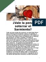 ¿Vale la pena soterrar el Sarmiento? - por Verónica Ocvirk