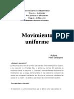 movimiento uniforme