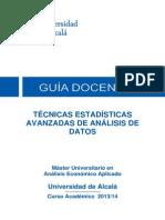 Tecnicas Estadisticas Avanzadas en Analisis de Datos