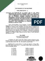 Proclamation No. 97 657