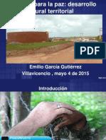 La Llave Para La Paz . Desarrollo Rural Territorial EGG