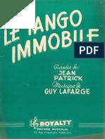 Guy Lafarge - Le Tango Immobile - 1955 - Tango - Band Sheet Music
