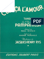 Jacques Henry Rys - c'Est CA l'Amour - 1955 - Tango - Band Sheet Music