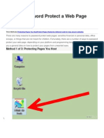 How to Password Protect a Web Page