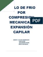CICLO DE FRIO POR COMPRESION MECANICA Y EXPANSIÓN CAPILAR