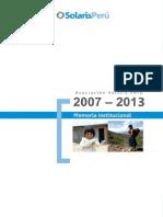 Memoria Institucional 2007 - 2013