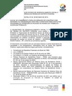 Edital Programa ACESSUAS de Brasília