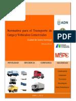 Normativa Transporte Carga Vehiculos Comerciales ADN MOPC Etal 2013