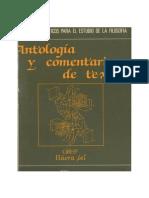 Antologia y Comentario de Textos Filosoficos
