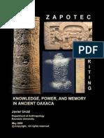 Texto.zapoteca.cultura.arqueologia