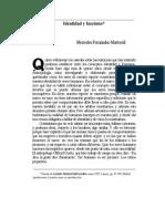 Identidad y Fascismo - Fernandez-Martorell