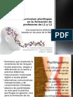 Curriculum Plurilingüe en La Formación de Profesores de Lenguas