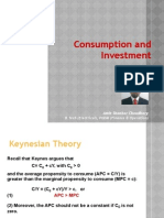 Consumption and Investment Function